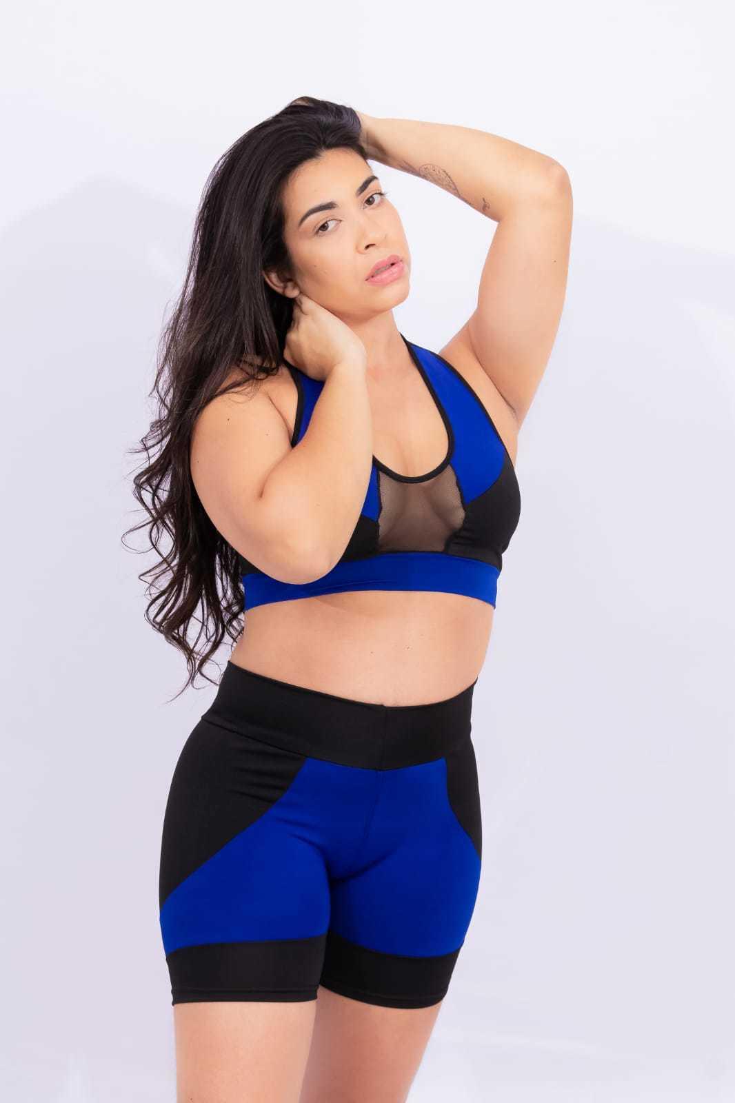 Conjunto de short e top s/ bojo - Em Forma Fitness