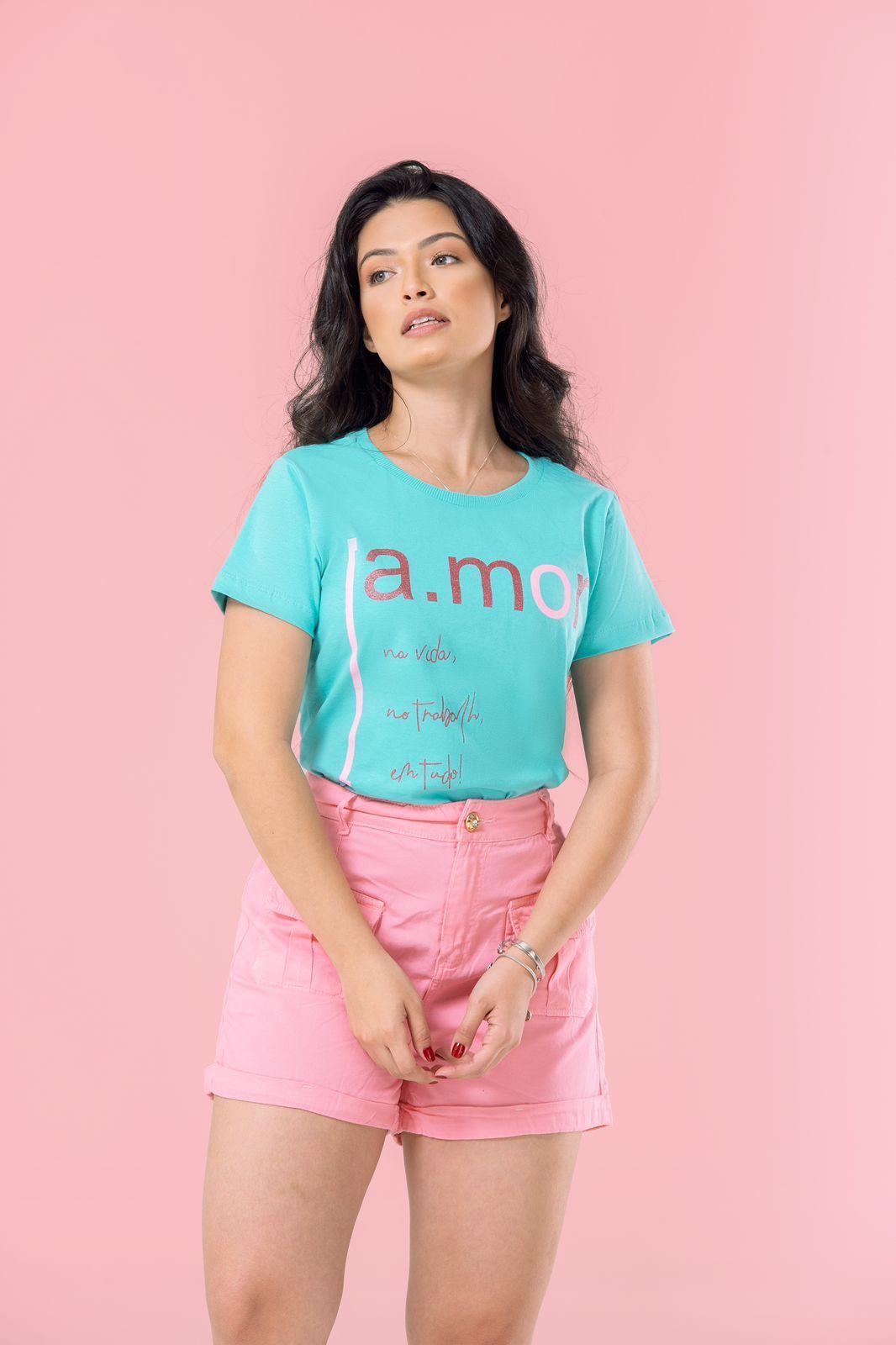 Diniz T-shirts feminina - Amor