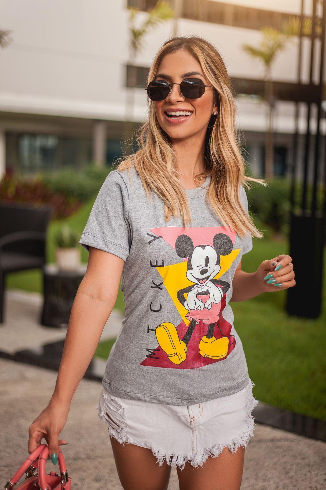 Diniz T-shirts feminina - M T C K E Y