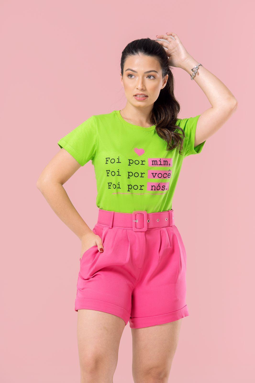 Diniz T-shirts feminina - Foi por mim