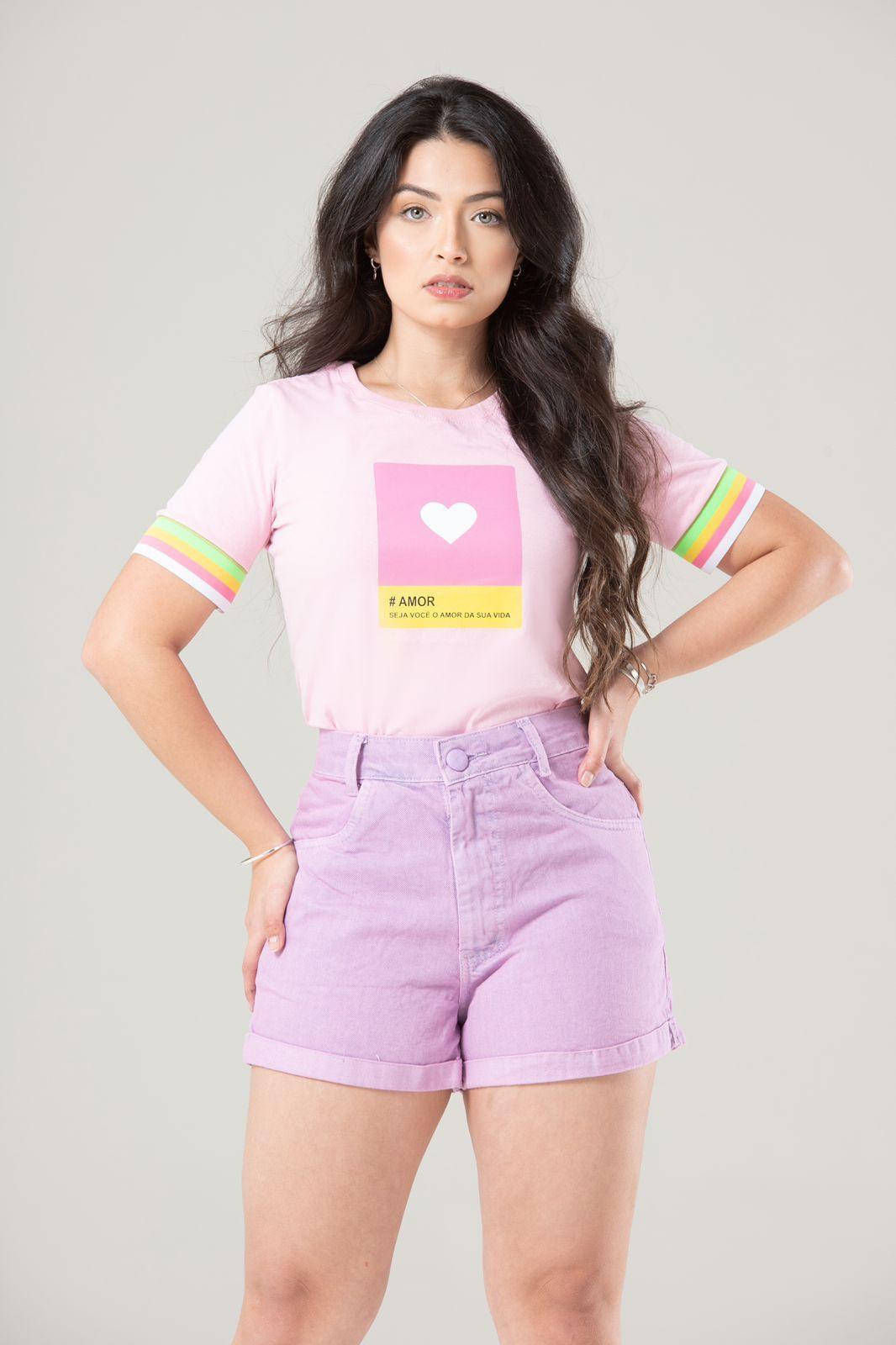 Diniz T-shirts feminina - #AMOR