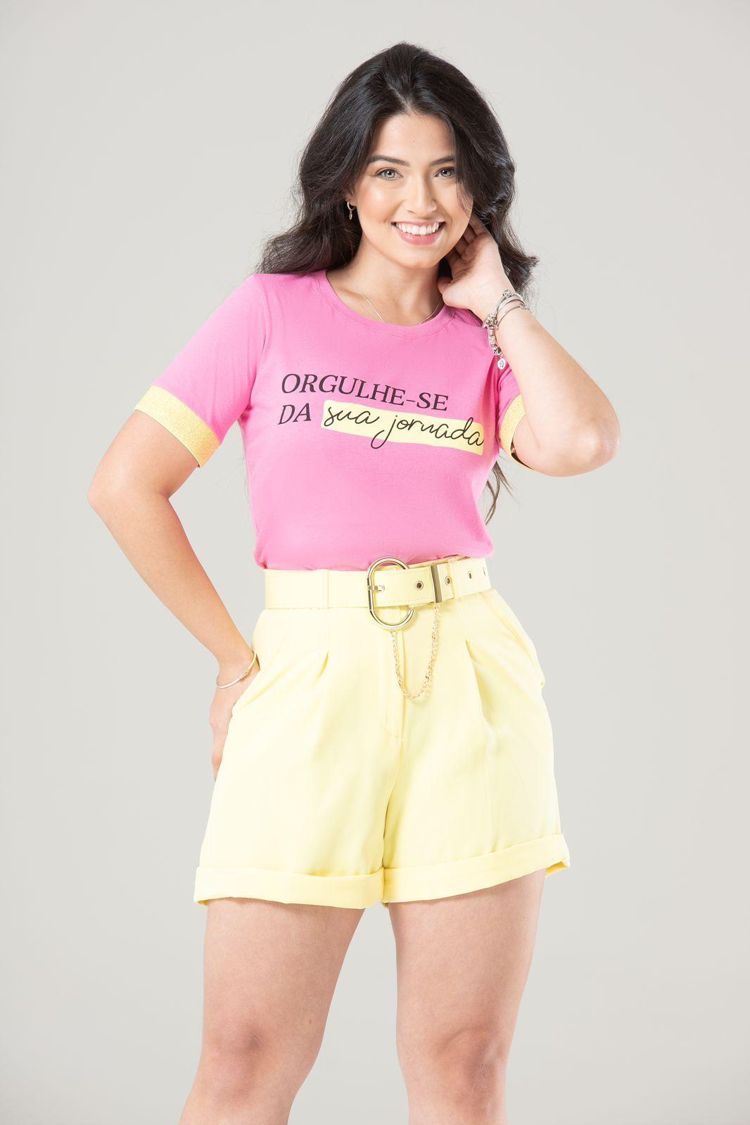 Diniz T-shirts feminina - Orgulhe-se da sua jornada