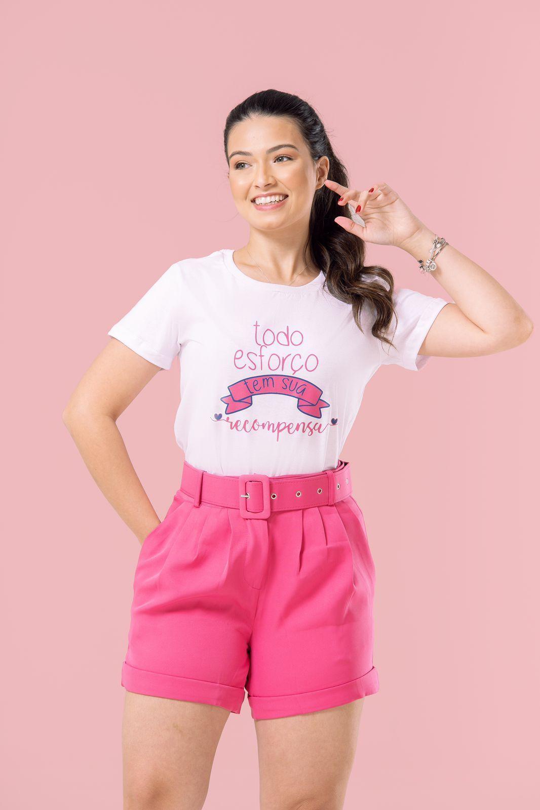 Diniz T-shirts feminina - Todo esforço tem sua recompensa