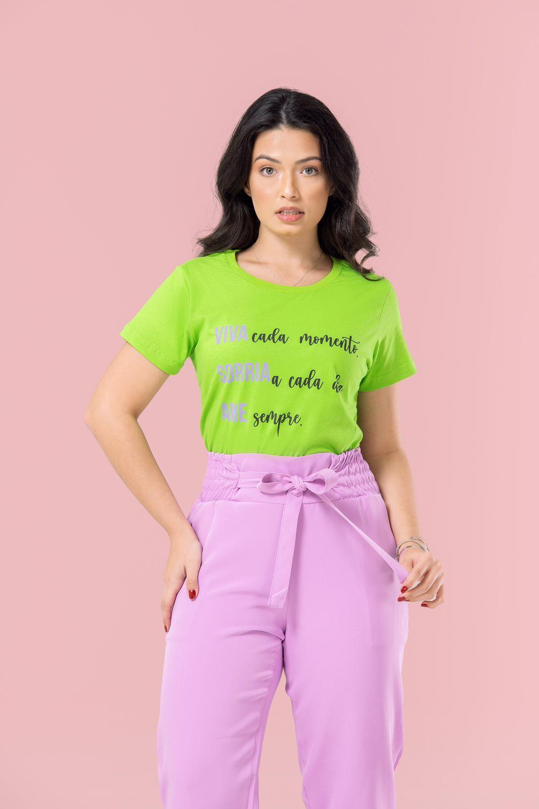 Diniz T-shirts feminina - Viva cada momento