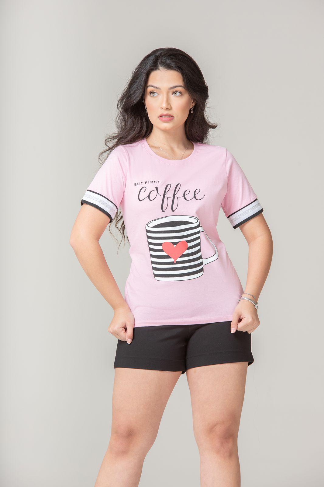 Diniz T-shirts feminina - Coffe
