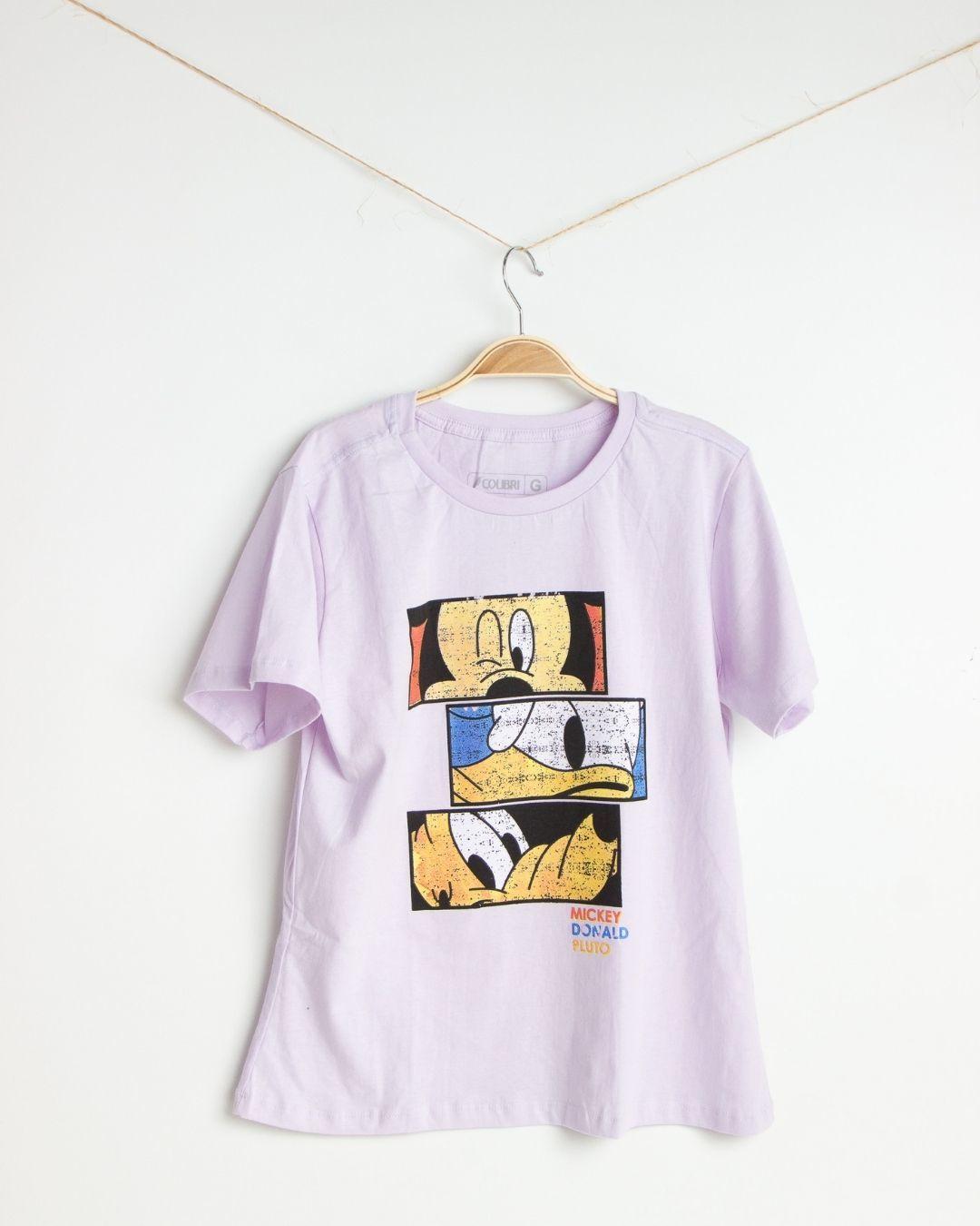 Kit com 5 Camisas Femininas 100% Algodão