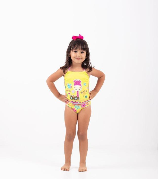 Maiô Costa Aberta Personalizado Ondas Kids