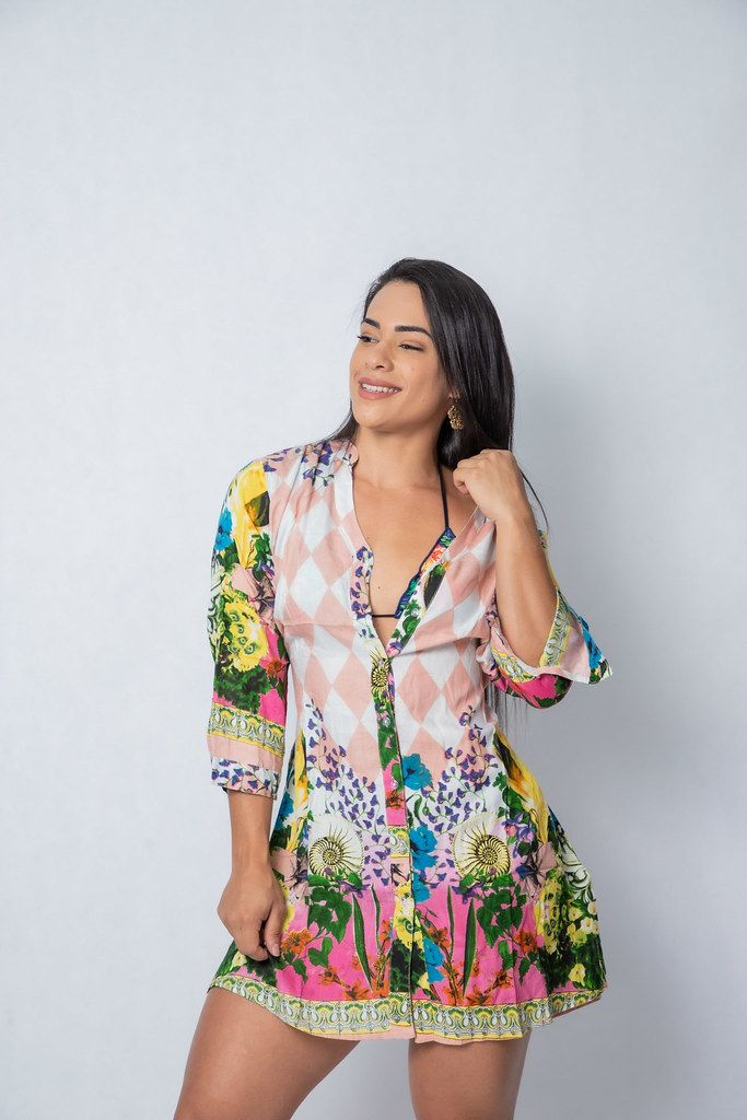 Saida Estampa Flores