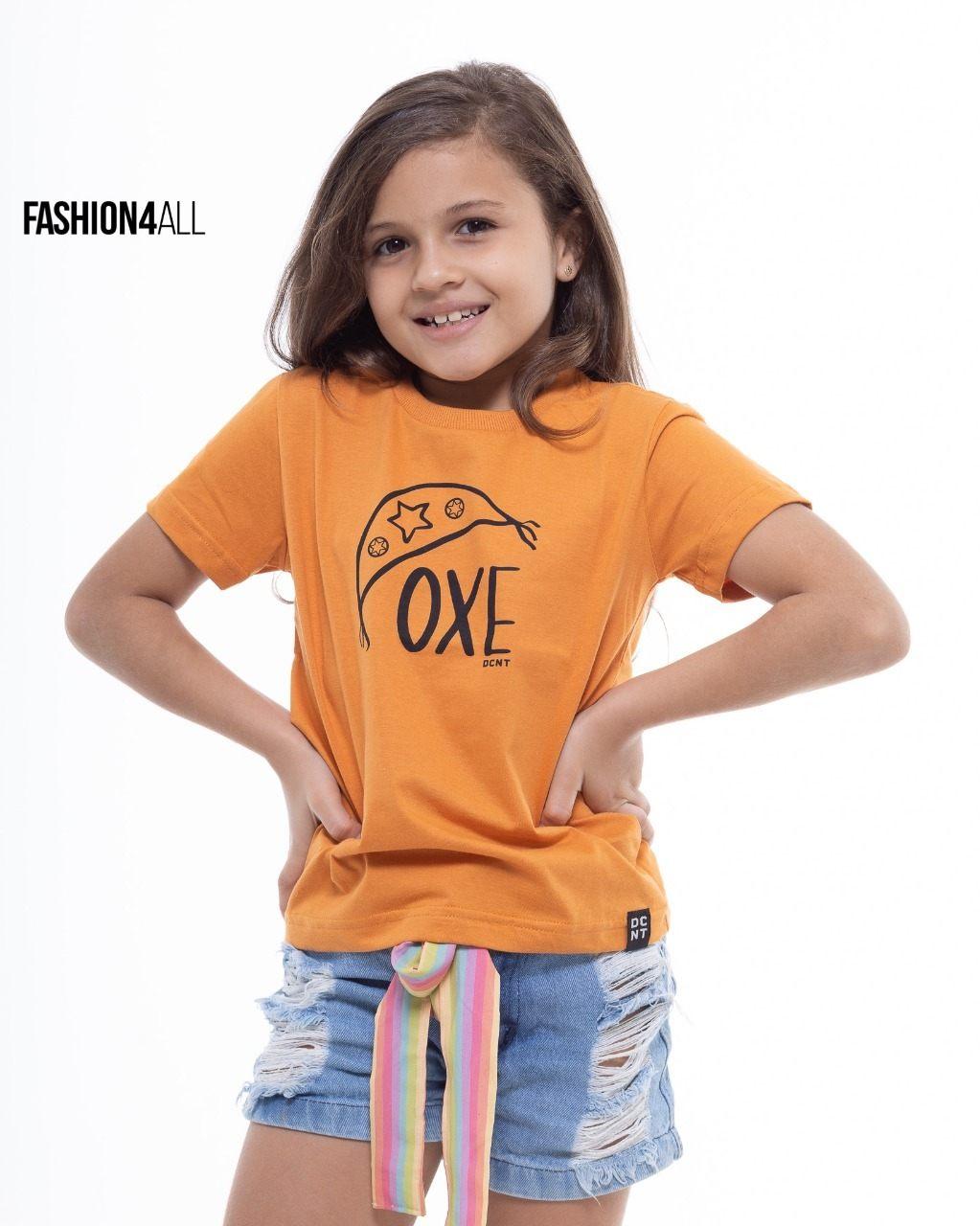"T-SHIRT INFANTOJUVENIL ESTAMPADA ""OXE"" DECENTE"
