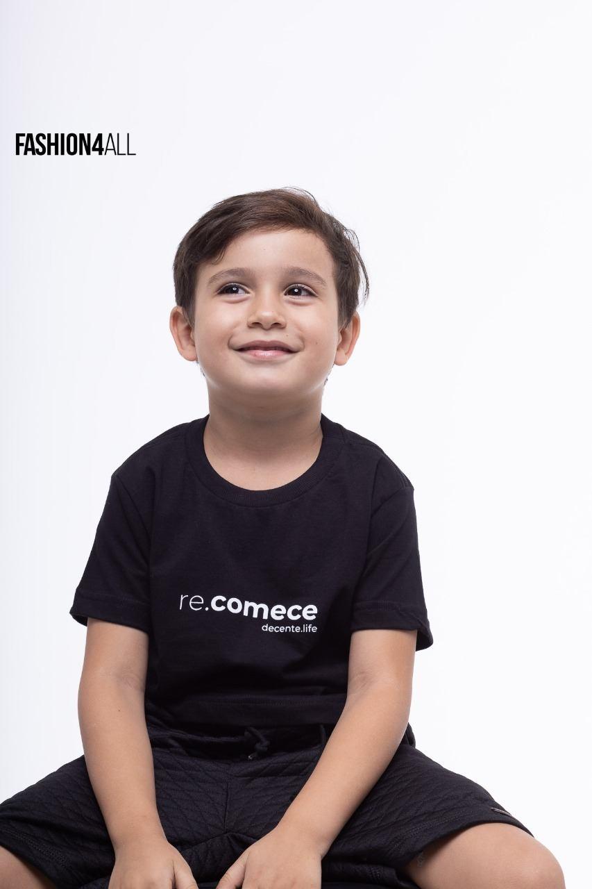 """T-SHIRT INFANTOJUVENIL ESTAMPADA """"RE.COMCE"""" DECENTE"""
