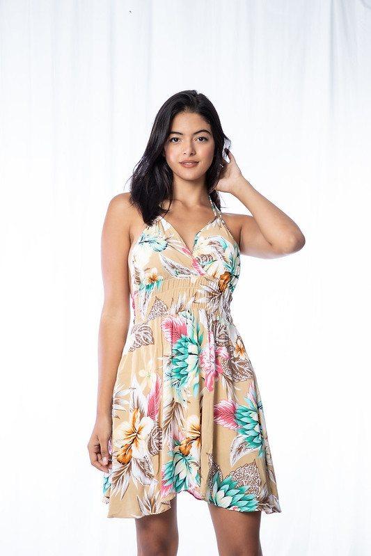 Vestido floral elastico