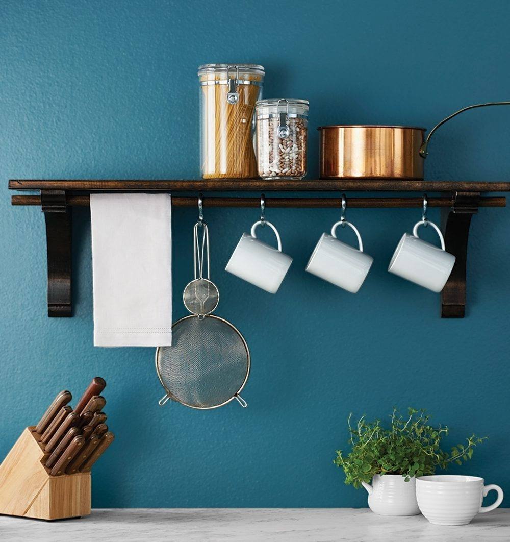 DIY kitchen shelf