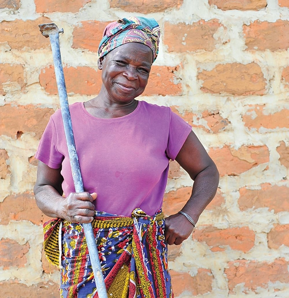 One of the woman in a women's group that Aby Nelms started in Chishiko, Nambia.