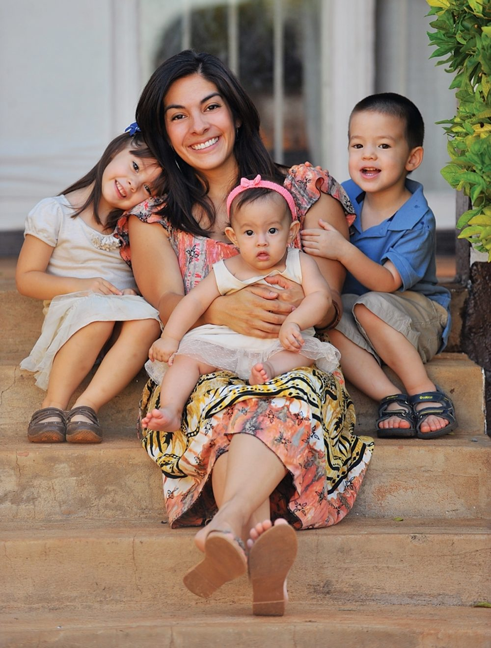 Aby Nelms is raising three children while doing mission work in Zambia.