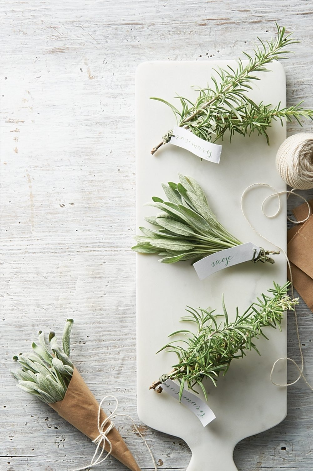 Rosemary and sage herbs