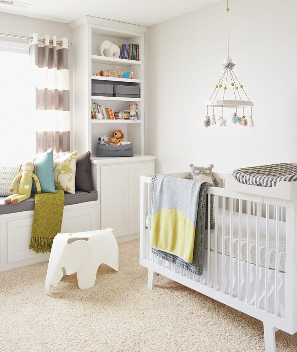A gender-neutral baby nursery.