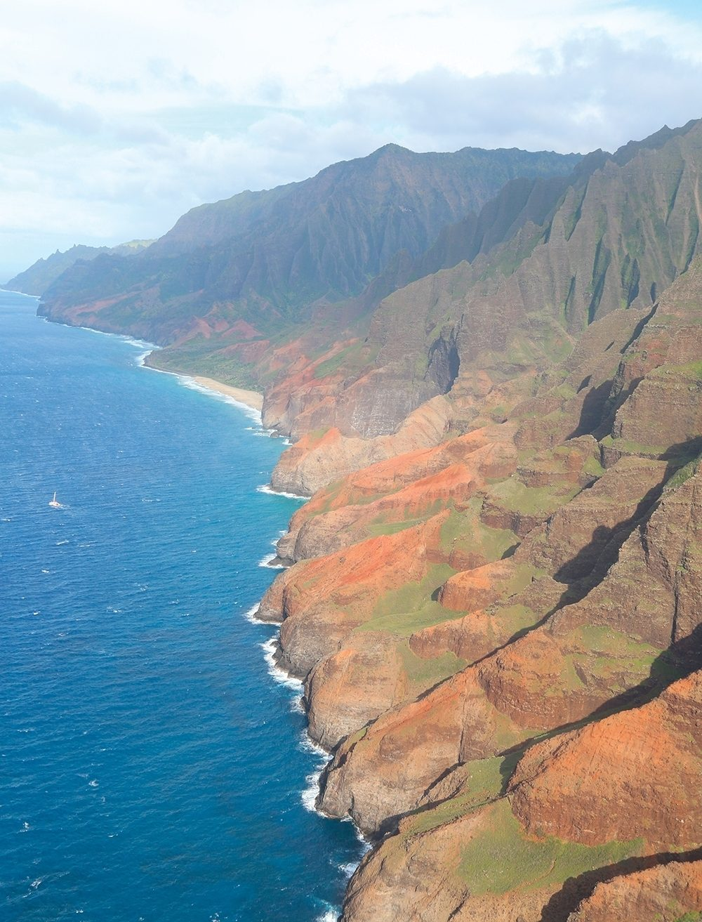 A portion of the Hawaiian coastline