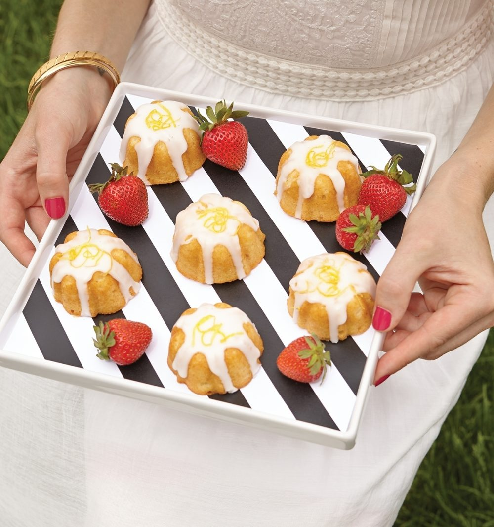 Prepare these easy-bake cakes from a box the day before the picnic and top them with lemon zest to add a sweet finish to a delicious meal.