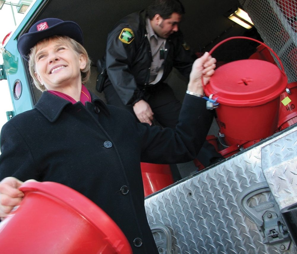 Spirit-led Salvation Army workers, such as this woman, are sent out to help the hurting, broken, lonely, dispossessed.