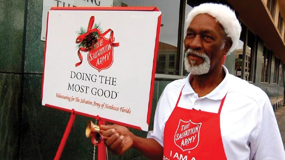 Harold Pierce is one of about 25,000 Red Kettle Campaign bell ringers working across the United States each Christmas.