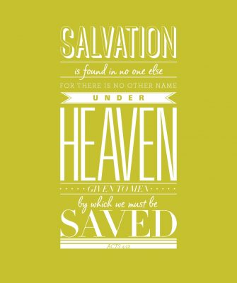 Poster of Acts 4:12 Bible verse