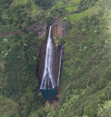 We got to see almost a dozen waterfalls on our helicopter tour in Kauai.