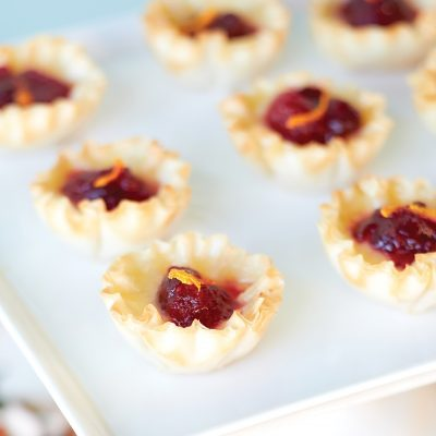 Cranberry-orange brie tarts
