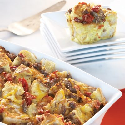 Egg Casserole with Sausage and Sun-Dried Tomatoes