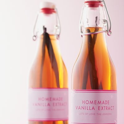 For the bakers in your life, what could be more appreciated than a bottle of homemade vanilla extract?