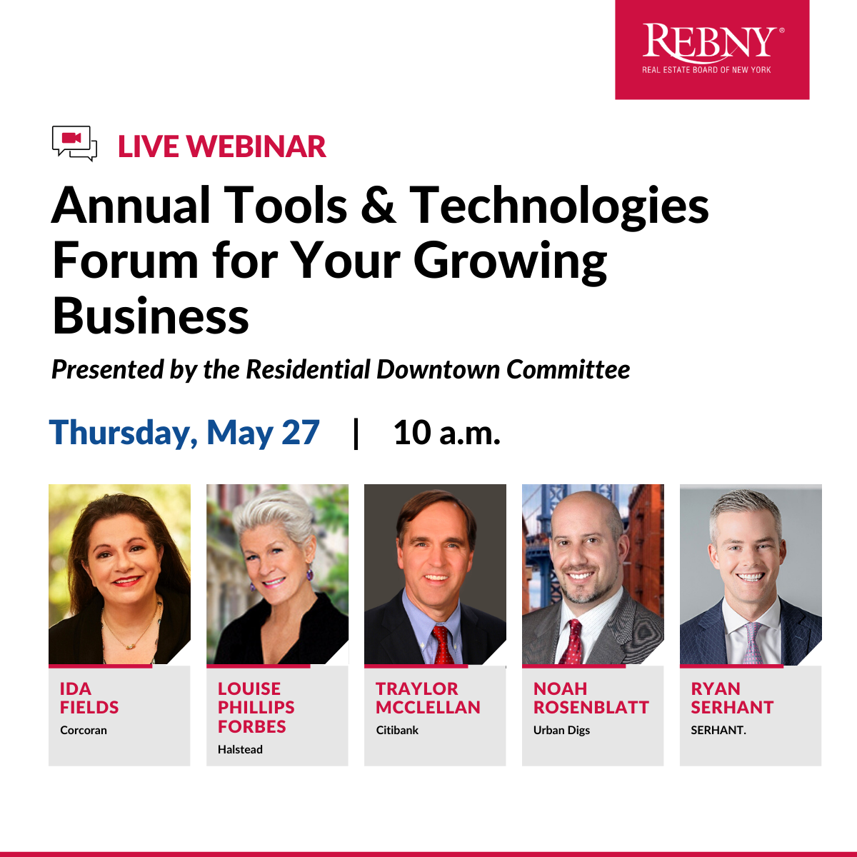Residential Brokerage Downtown Committee Presents: Tools & Technologies Forum for Your Growing Business