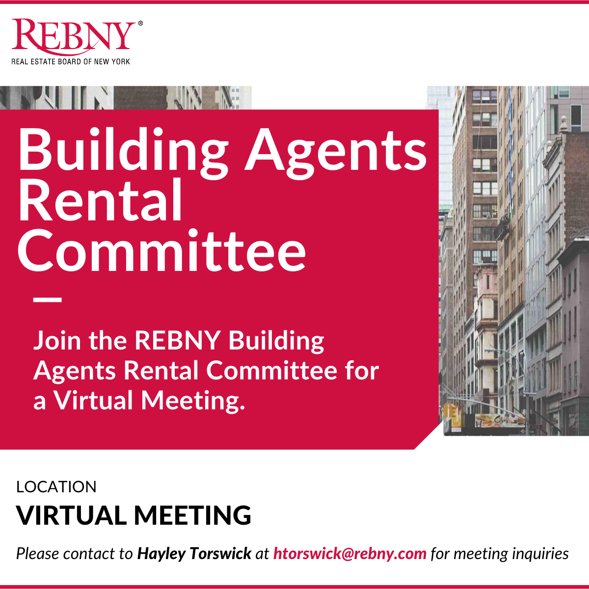 VIRTUAL: Commercial Brokerage Building Agents Rental Committee Meeting (BARC)