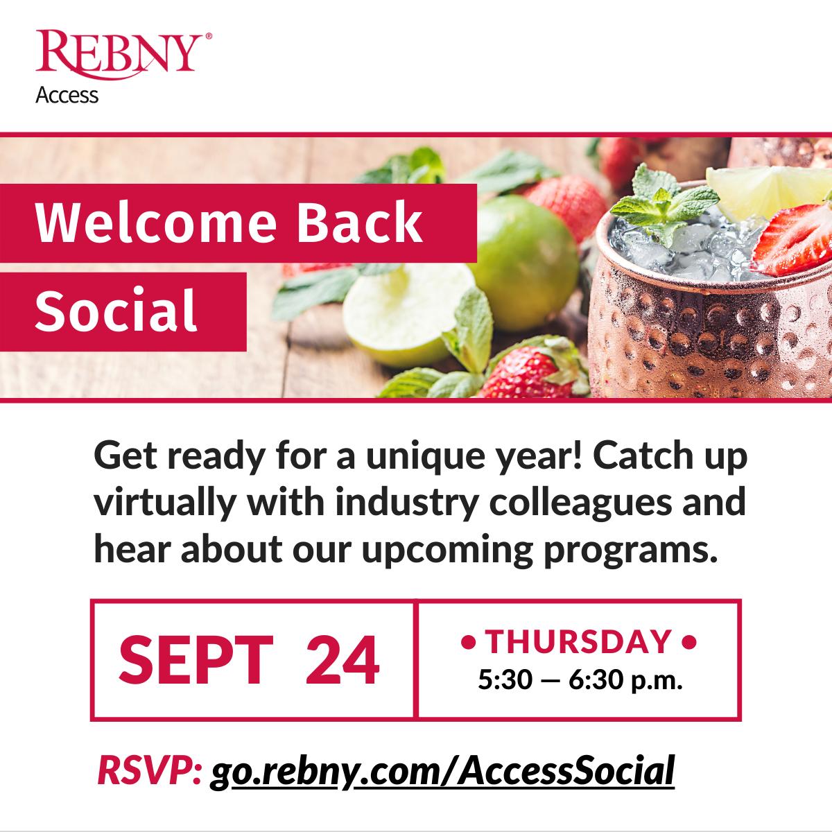VIRTUAL: REBNY Access Welcome Back Social