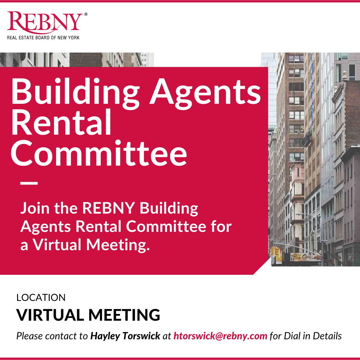 Virtual Commercial Brokerage Building Agents Rental Committee Meeting
