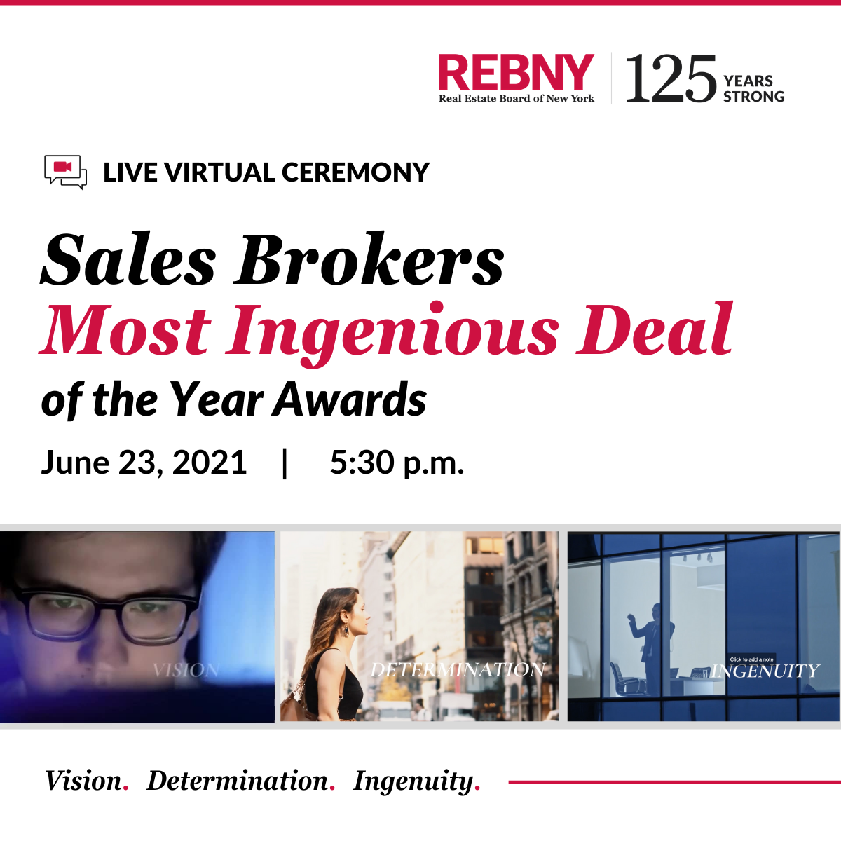 The 77th Annual Sales Brokers Most Ingenious Deal of the Year Virtual Awards Ceremony