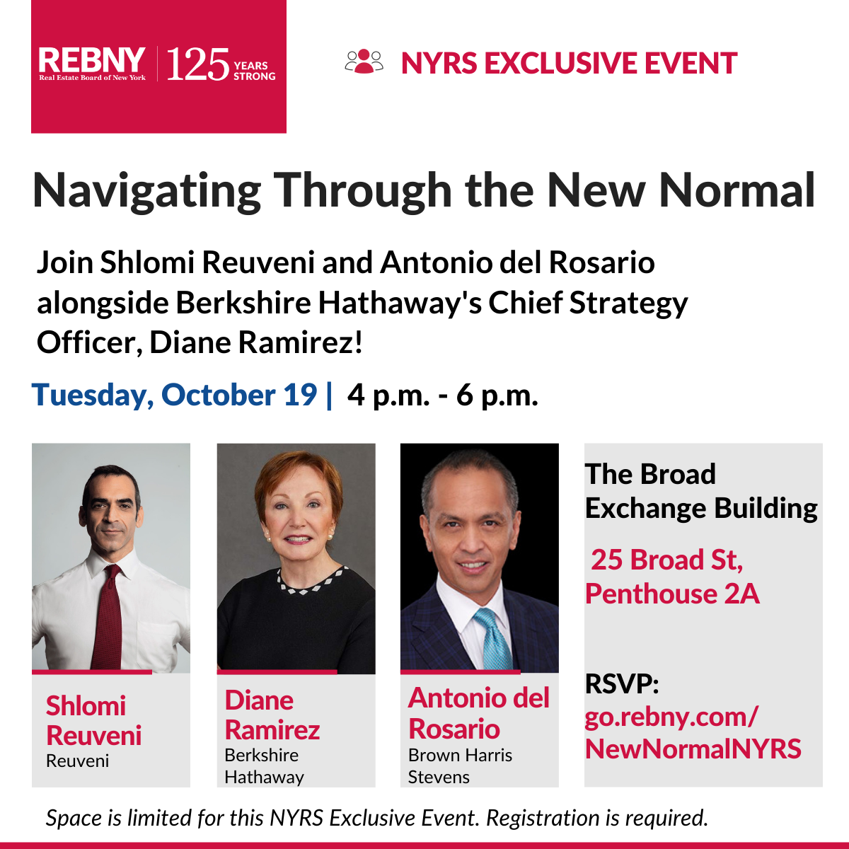 NYRS Exclusive Event: Navigating Through the New Normal
