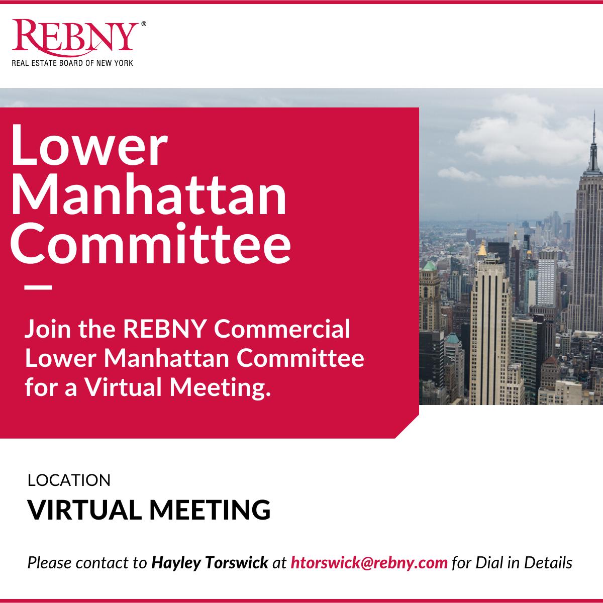 VIRTUAL: Commercial Brokerage Lower Manhattan Committee Meeting