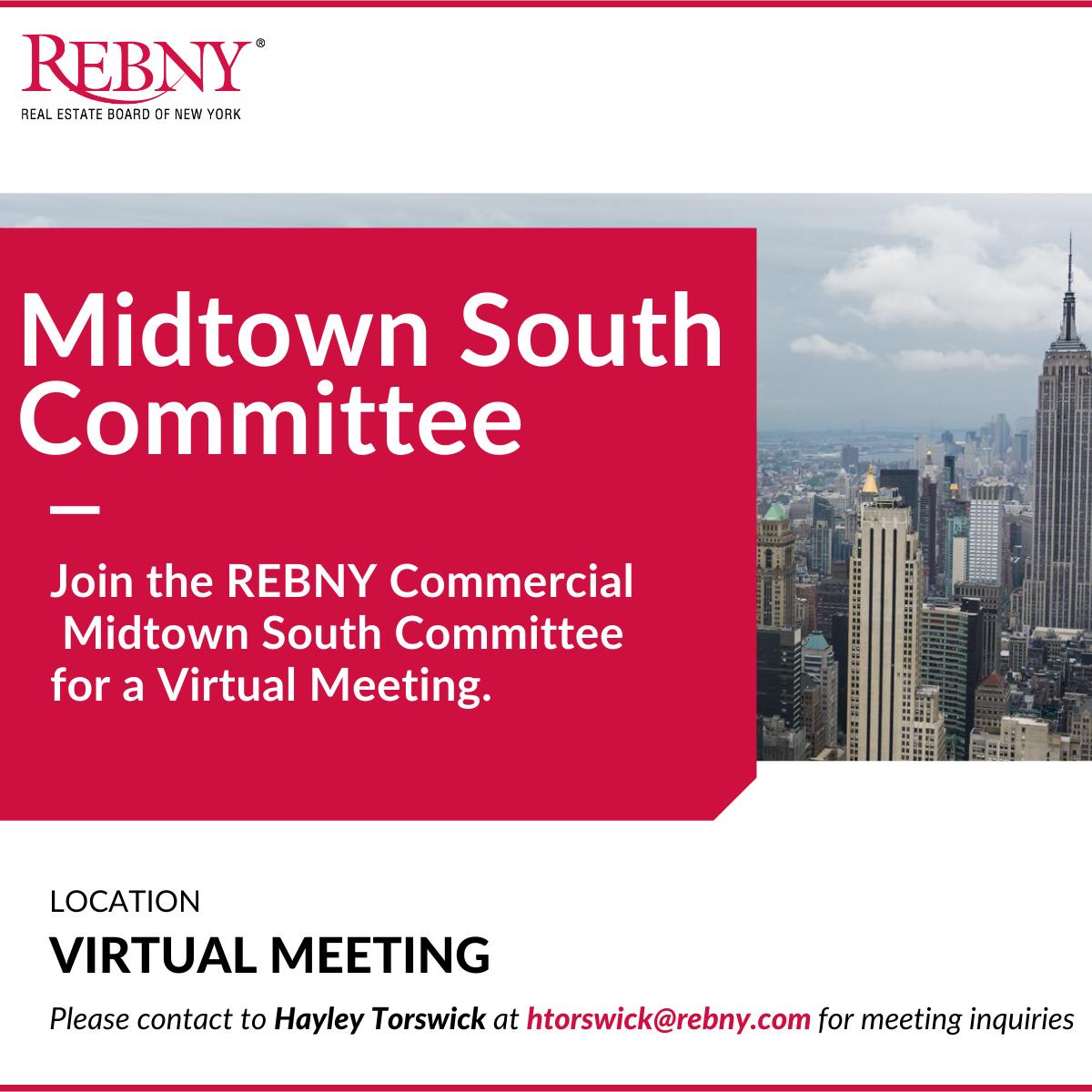 VIRTUAL: Commercial Brokerage Midtown South Committee Meeting