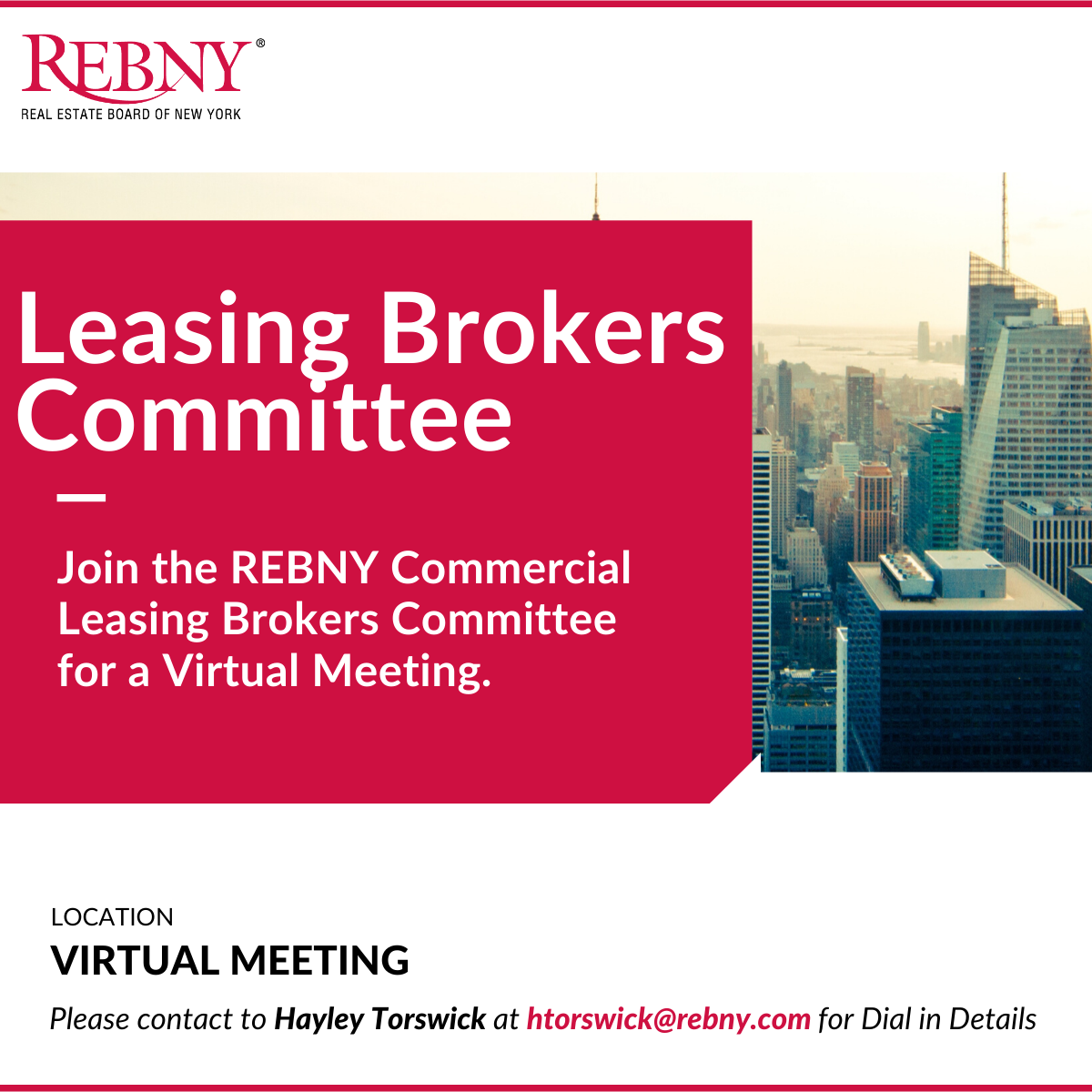 Virtual Commercial Brokerage Leasing Brokers Committee Market Discussion