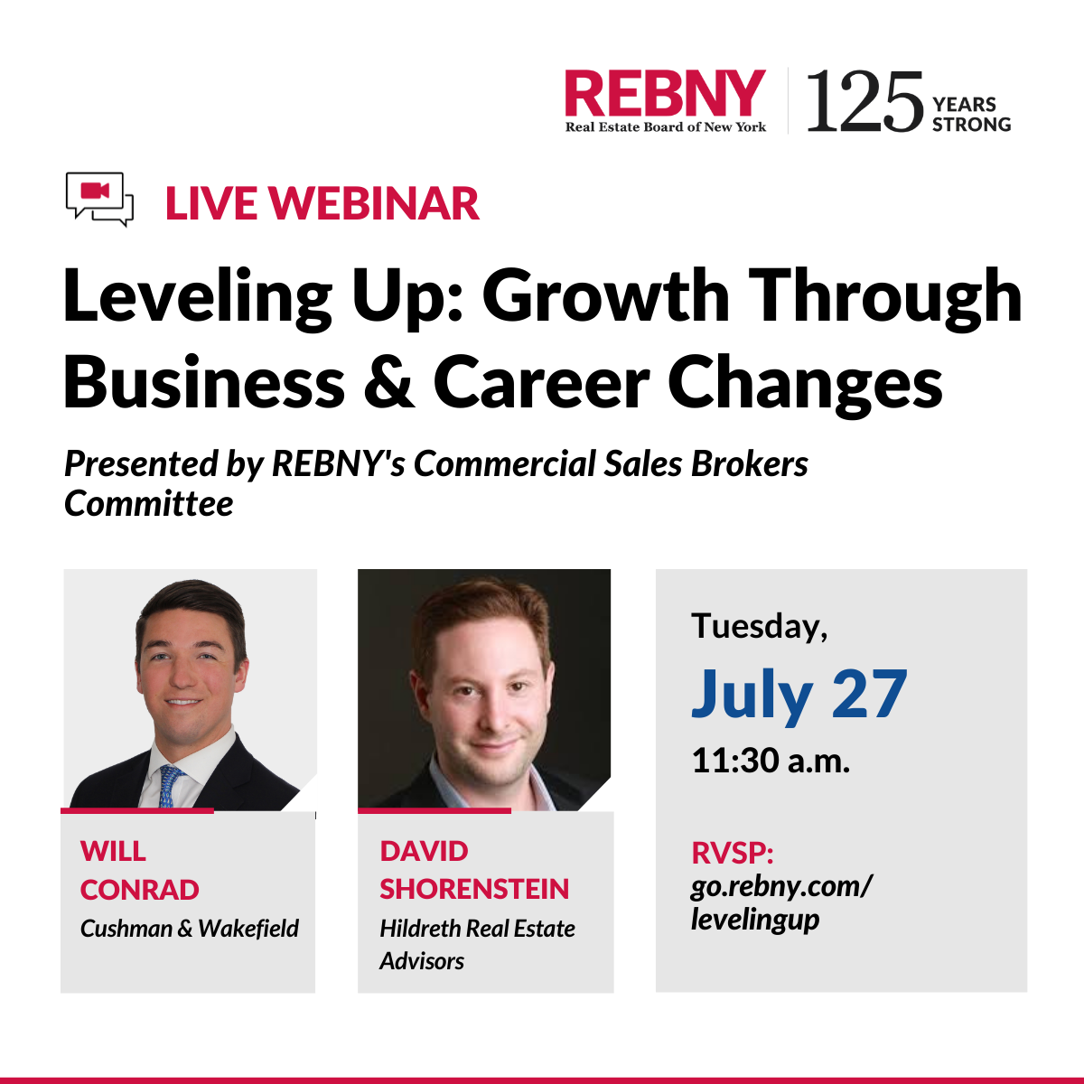 WEBINAR:  Leveling Up: Growth Through Business and Career Changes