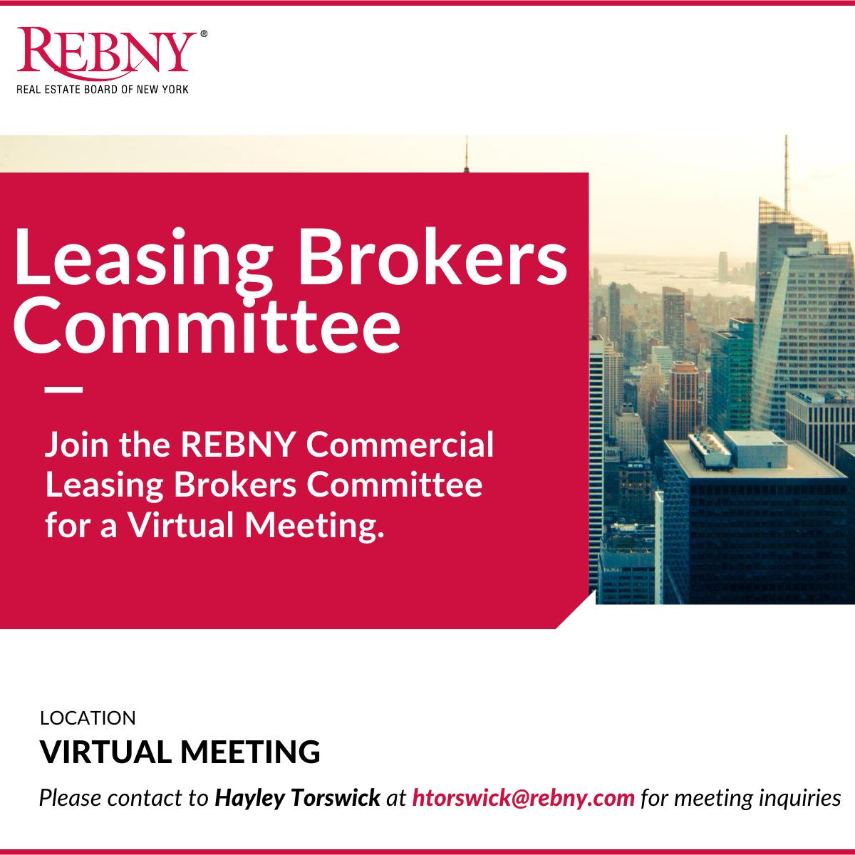 VIRTUAL: Commercial Brokerage Leasing Brokers Committee Meeting