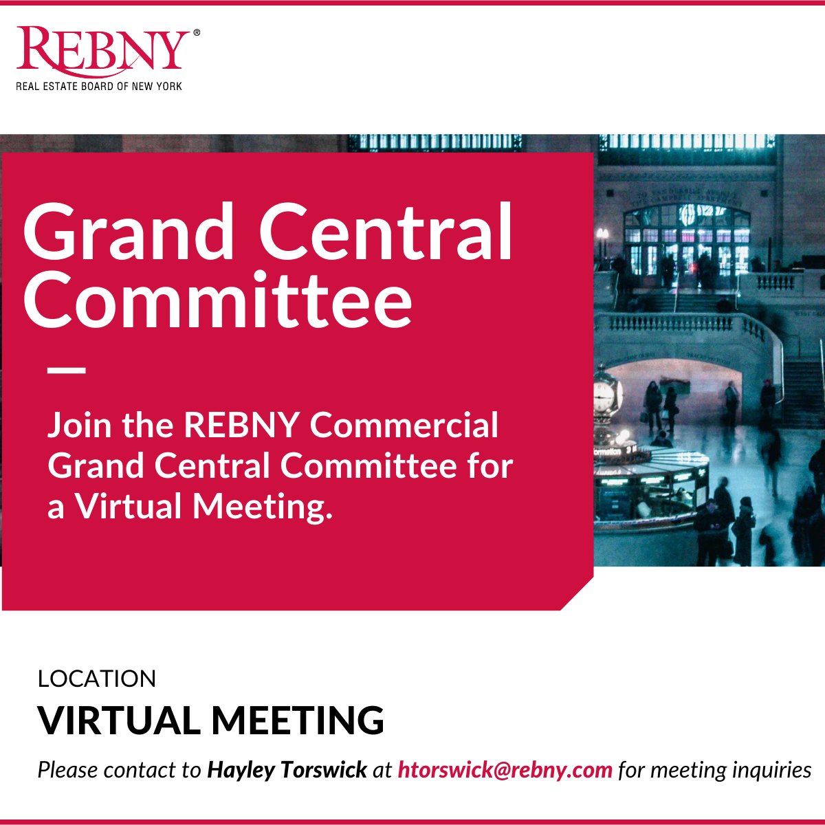 VIRTUAL: Commercial Brokerage Grand Central Committee Meeting.