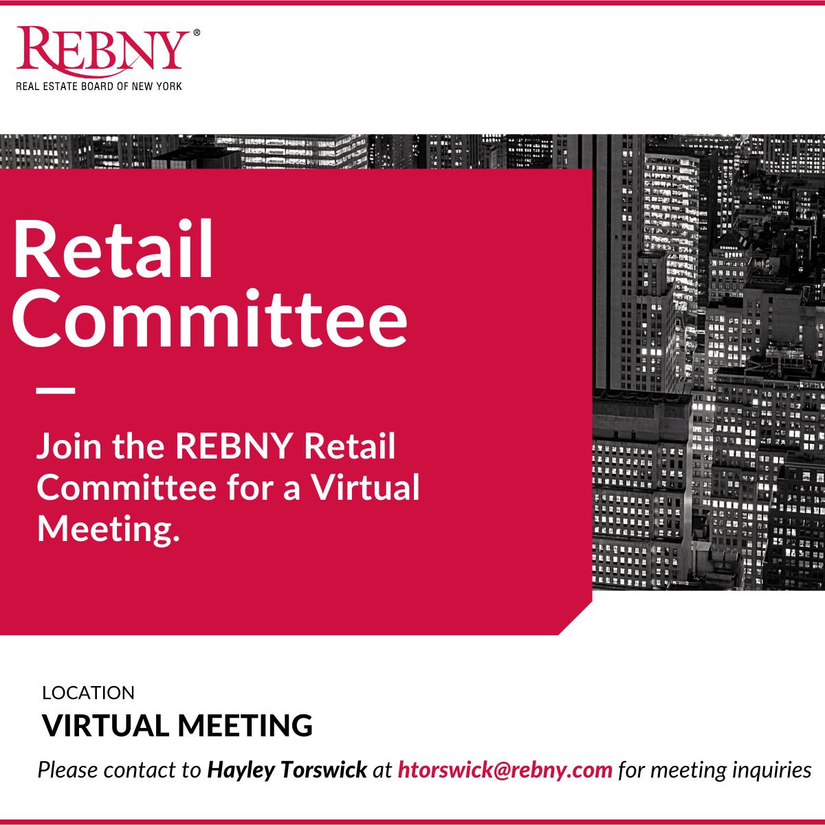 VIRTUAL: Commercial Brokerage Retail Committee Meeting