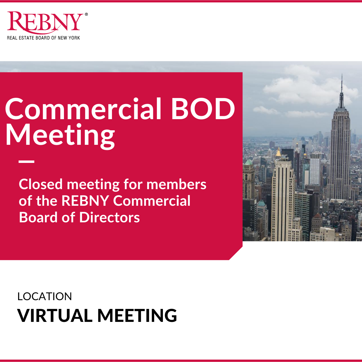 VIRTUAL: Commercial Board of Directors Meeting (CLOSED)