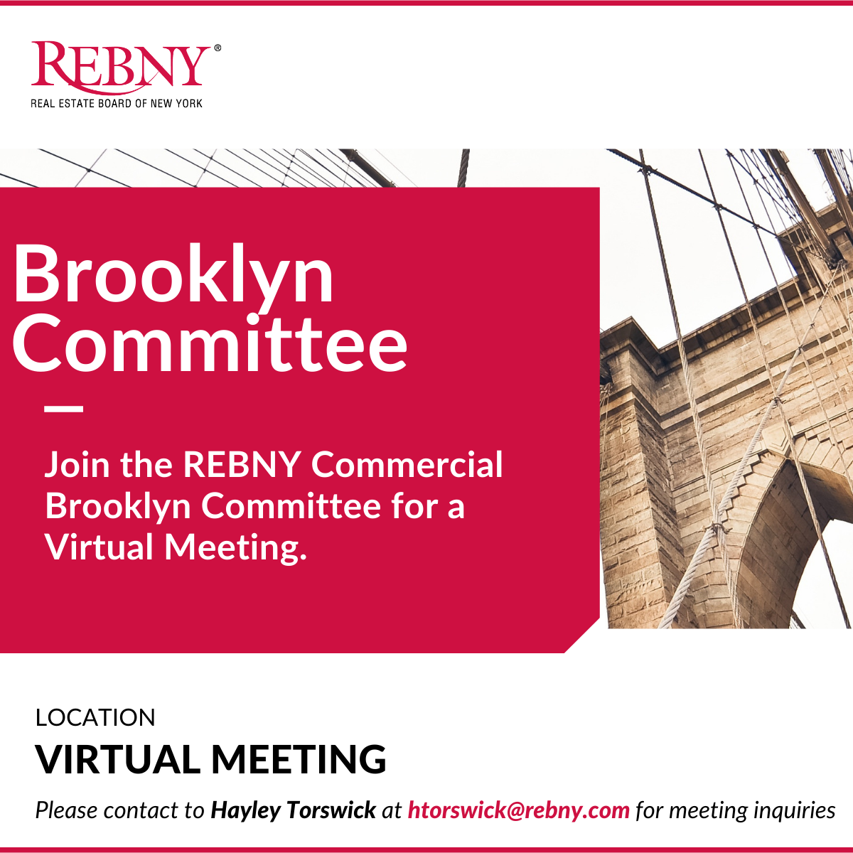 VIRTUAL: Commercial Brokerage Brooklyn Committee Meeting.