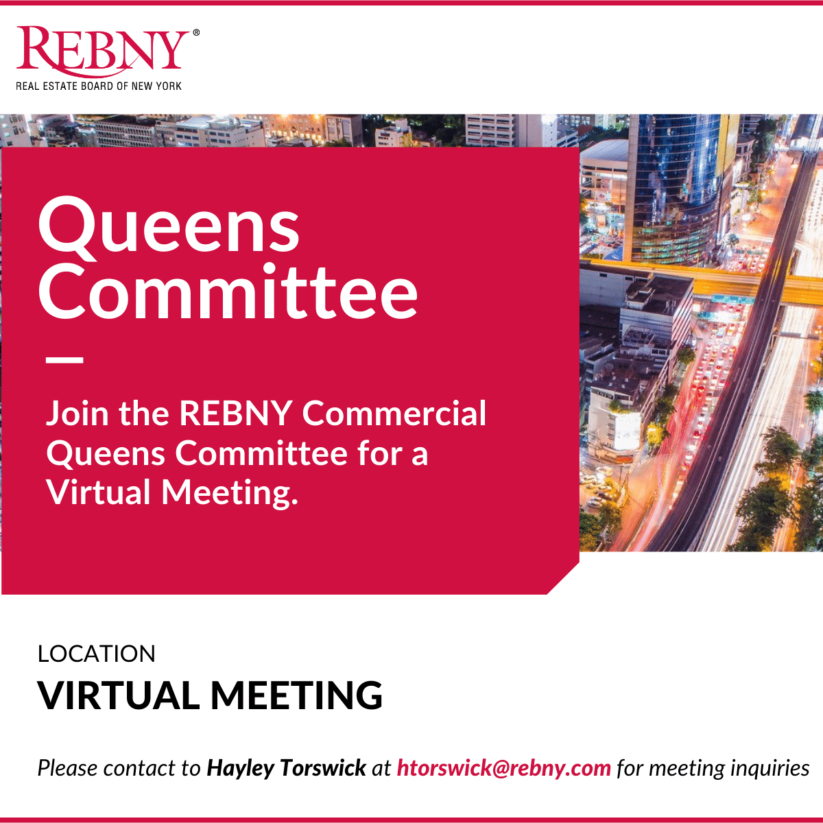 VIRTUAL: Commercial Brokerage Queens Committee Meeting