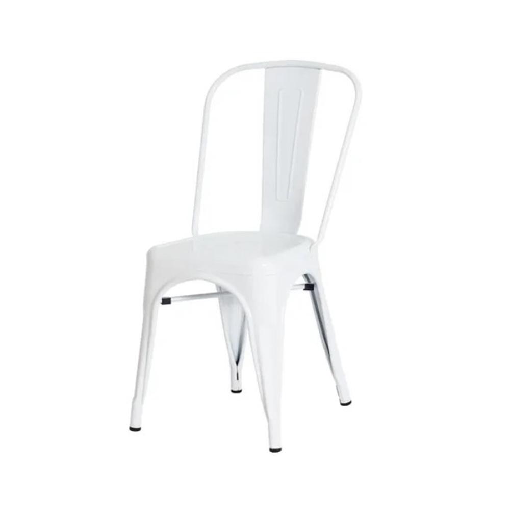 Cadeira Iron Tolix Francesinha de Aço Carbono Branca Frigopro
