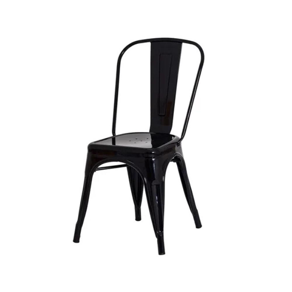 Cadeira Iron Tolix Francesinha de Aço Carbono Preta Frigopro