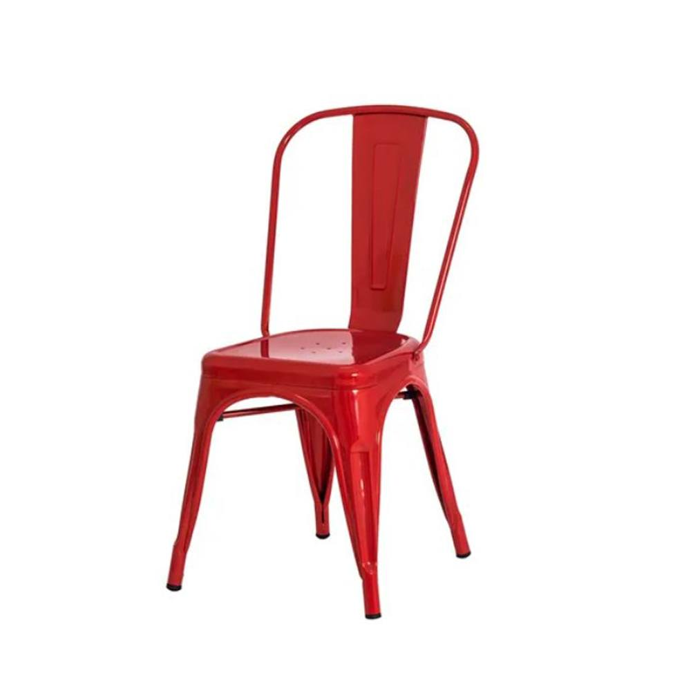 Cadeira Iron Tolix Francesinha de Aço Carbono Vermelho Frigopro