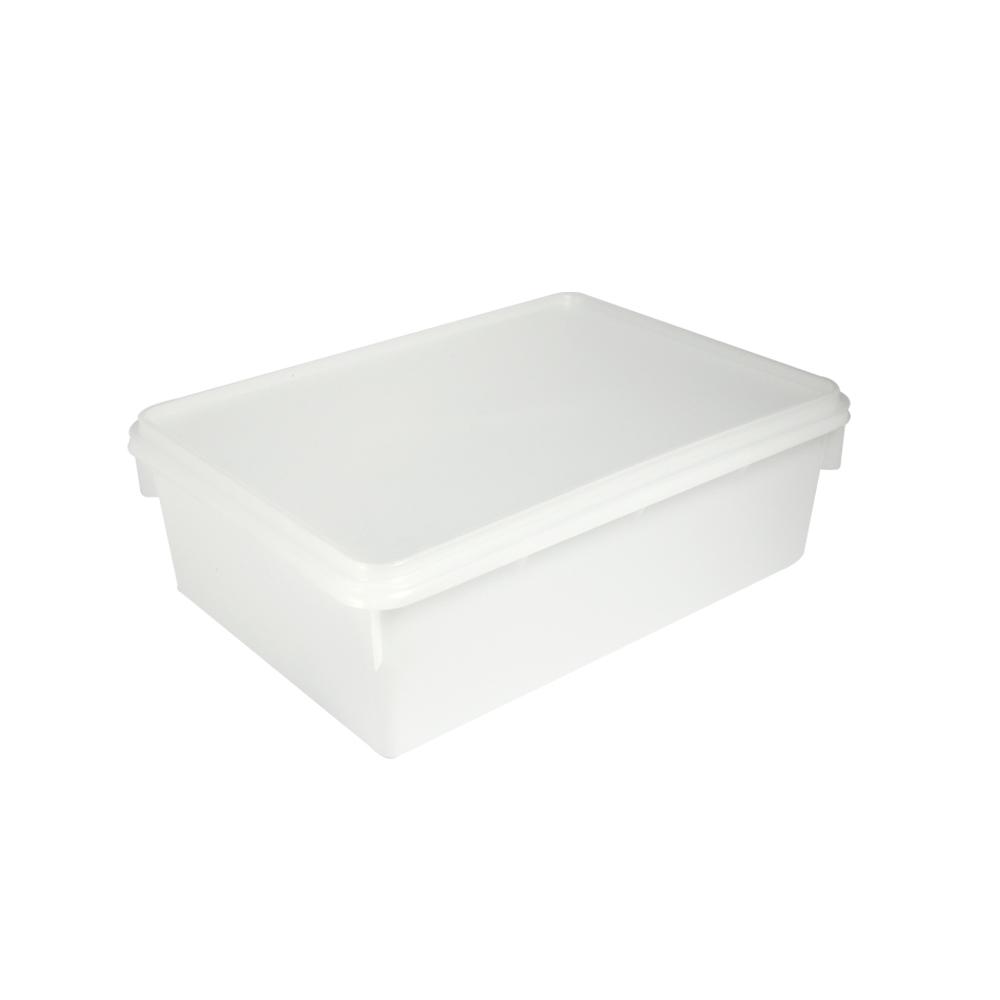 Caixa Retangular Plástica 11 Litros Branca Plasvale