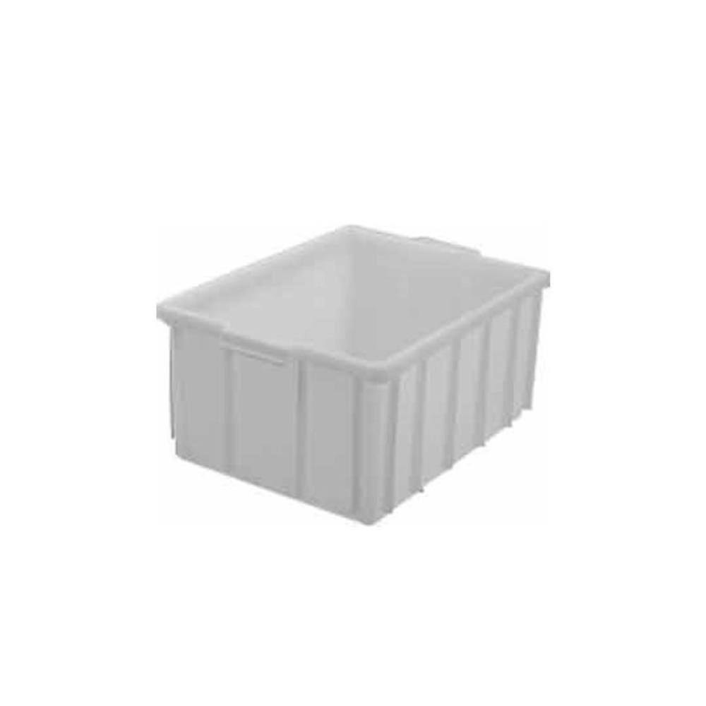 Caixa Retangular Plástica Branca 22,5x35x50 cm 26 Litros DTR